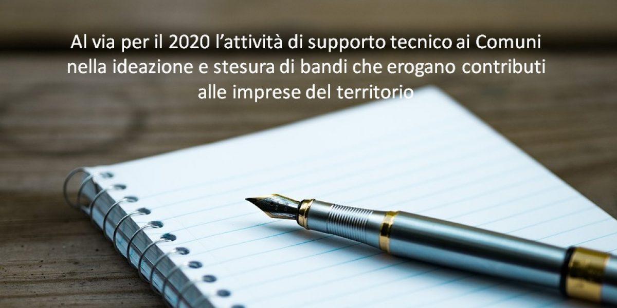 Anche nel 2020 parte l'attività di ideazione bandi per lo sviluppo dei territori